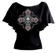 Blood Moon Cross Gothic Shirt