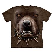 Angry Pitbull Face T Shirt