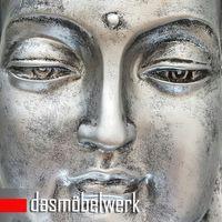 XL Buddha Deko Kopf 54 cm Figur Feng Shui Asia Skulptur S082 A-Silber – Bild 4