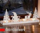 Teelichthalter Rentier Schlitten Weihnachten Metall Kerzenhalter Shabby 001
