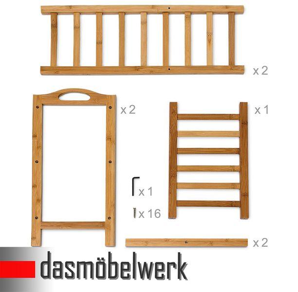 Bambus Schuhregal Schuhschrank Regal Schuhe 3 Ebenen Stiefelfach 46316 – Bild 6