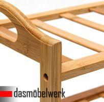 Bambus Schuhregal Schuhschrank Regal Schuhe 3 Ebenen Stiefelfach 46316 – Bild 2