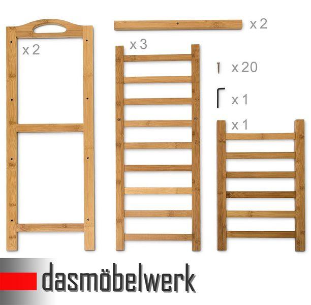 Bambus Schuhregal Schuhschrank Regal Schuhe 4 Ebenen Stiefelfach 46323 – Bild 6