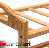 Bambus Schuhregal Schuhschrank Regal Schuhe 4 Ebenen Stiefelfach 46323 – Bild 3