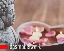 LED-Bild Wandbild mit Beleuchtung Leuchtbild Leinwand Buddha – Bild 1