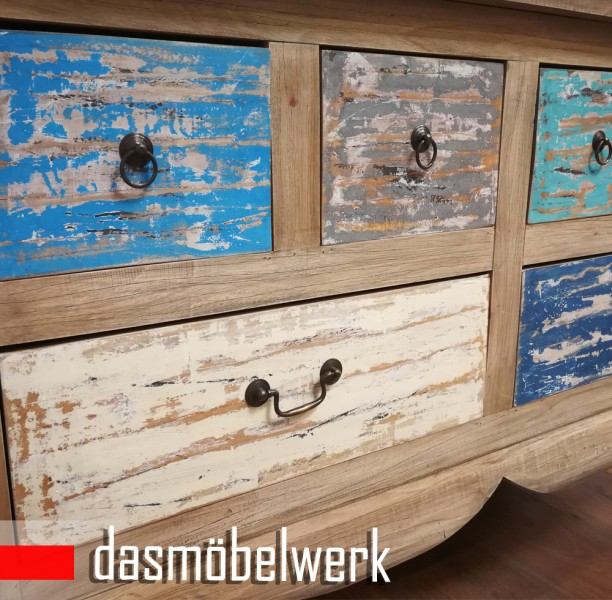 Vintage Möbel Barock Kommode Sideboard Schubladen Schrank Shabby Chic – Bild 3