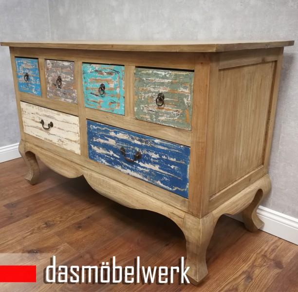 Vintage Möbel Barock Kommode Sideboard Schubladen Schrank Shabby Chic