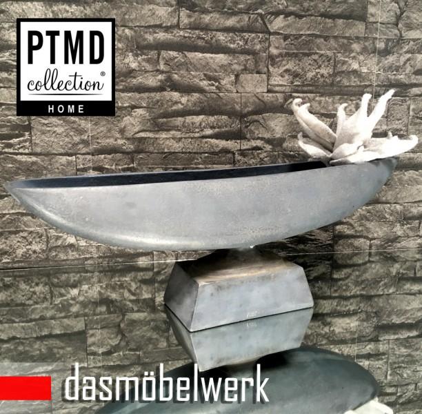 PTMD Aluminium Schale mit Fuß Schiffchen Deko Accessoires 648179