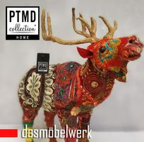PTMD Deko Figur Rentier Elch Hirsch Weihnachten Patchwork bunt 666399 – Bild 2