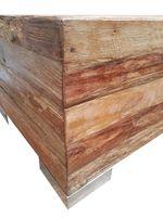 Recycling Teak Holz Beistelltisch Couchtisch Kaffee Tisch LOBO 100 cm – Bild 3