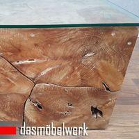 Recycling Teak Holz Beistelltisch Couchtisch Kaffee Tisch ROOT 100 cm – Bild 3