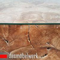 Recycling Teak Holz Beistelltisch Couchtisch Kaffee Tisch ROOT 100 cm – Bild 4