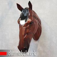 XXL Pferdekopf Wand Figur Skulptur Horse Pferd Kopf Dekoration braun – Bild 5