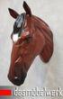 XXL Pferdekopf Wand Figur Skulptur Horse Pferd Kopf Dekoration braun 001
