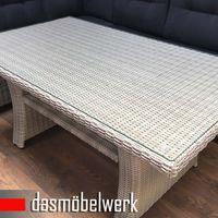 Lounge Poly Rattan Gartenmöbel Sitzgruppe Esstisch FLORENZ Silber Grau – Bild 6