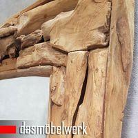 XXL Wandspiegel Spiegel Wurzel Teak Holz Rahmen 160 cm   – Bild 2