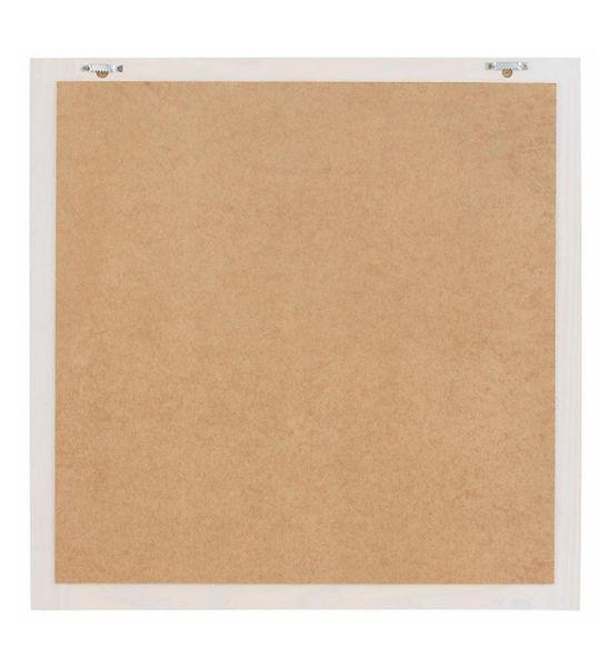 Wand Garderoben Bad Spiegel 75 cm Holzrahmen weiß Cubo 57703 – Bild 3