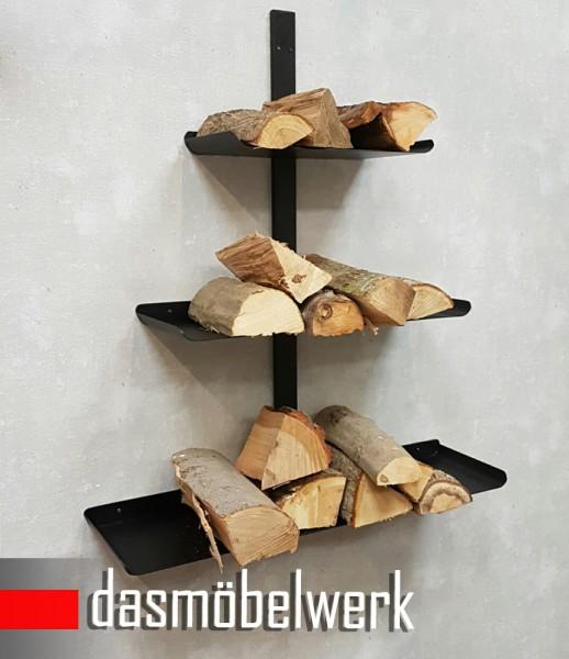 Impressionen Kaminholz Holzablage Regal Wandregal Kamin Holz