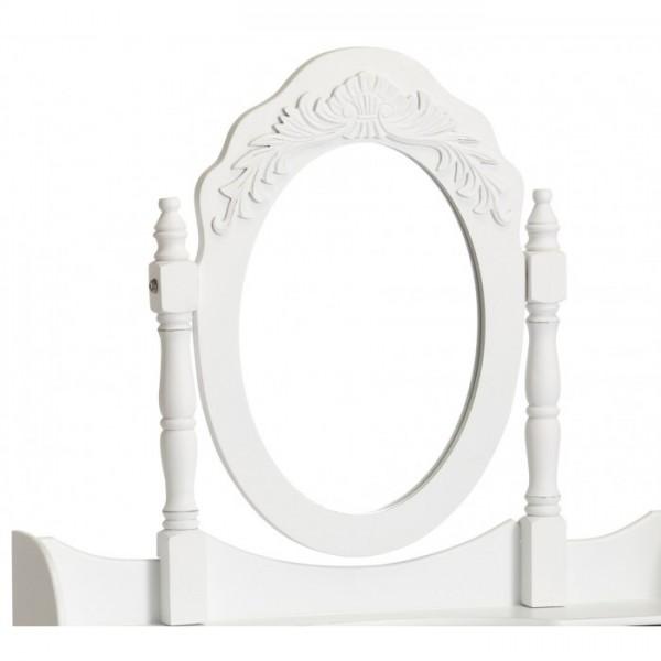 Schminktisch Schubladen Spiegel und Hocker Landhaus weiß 01.144.01 – Bild 3