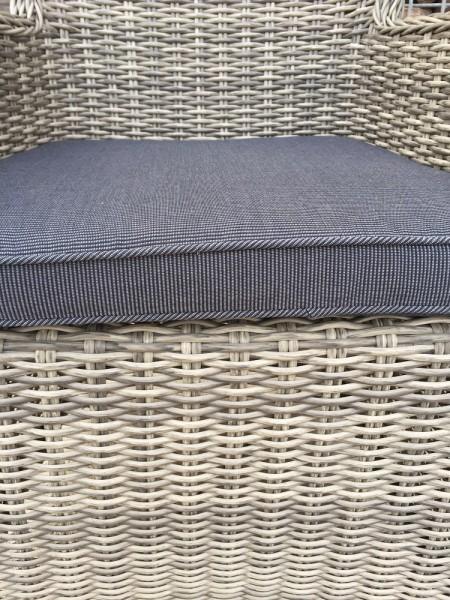 Gartenstuhl LILIE aus Polyrattan grau – Bild 2