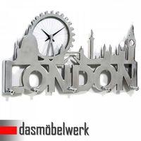 Hakenleiste London mit Uhr Wandgarderobe Flur – Bild 1