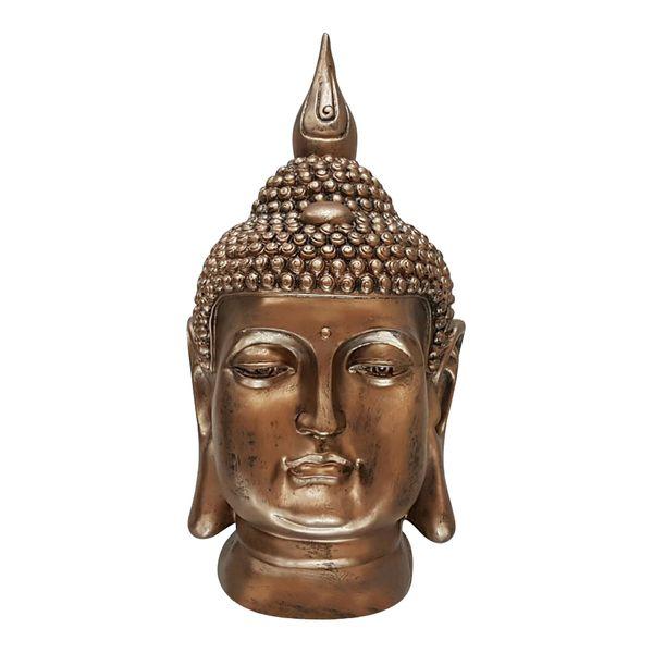 XL Buddha Deko Kopf 54 cm Figur Feng Shui Asia Skulptur S082 A-Kupfer