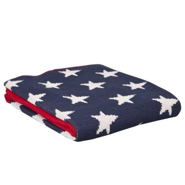 Clayre & Eef Plaid US Decke Kuscheldecke Vintage Stars & Stripes USA – Bild 2