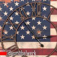 Clayre & Eef Wanduhr auf Leinwand USA – Bild 2