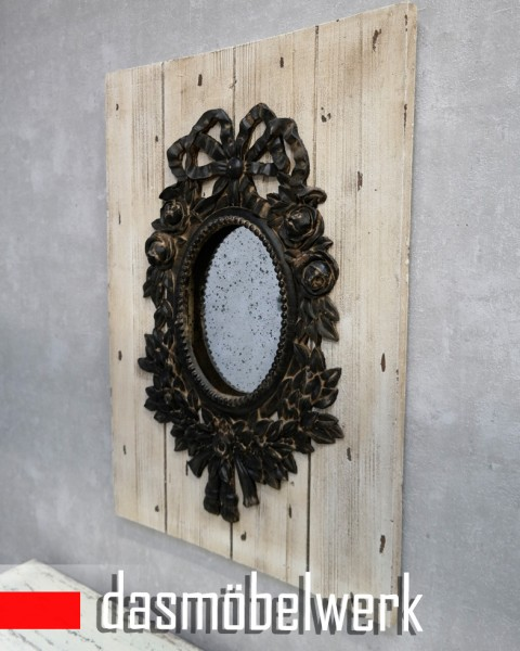 Lisbeth Dahl Deko Wandspiegel Antik Spiegel Holzplanken Landhaus – Bild 2