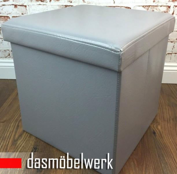 Sitzbank Sitzhocker Aufbewahrungsbox Stauraum faltbar Würfel 177057