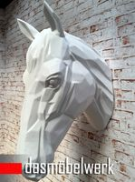 XXL Pferdekopf Wand Figur Skulptur Horse Pferd Kopf Dekoration weiss – Bild 2