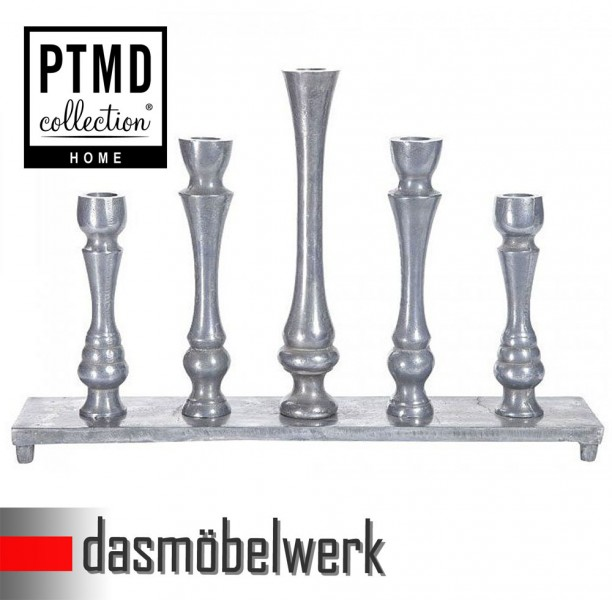 PTMD 5-armiger Aluminium Kerzenständer Leuchter für Stabkerzen 638340  – Bild 3