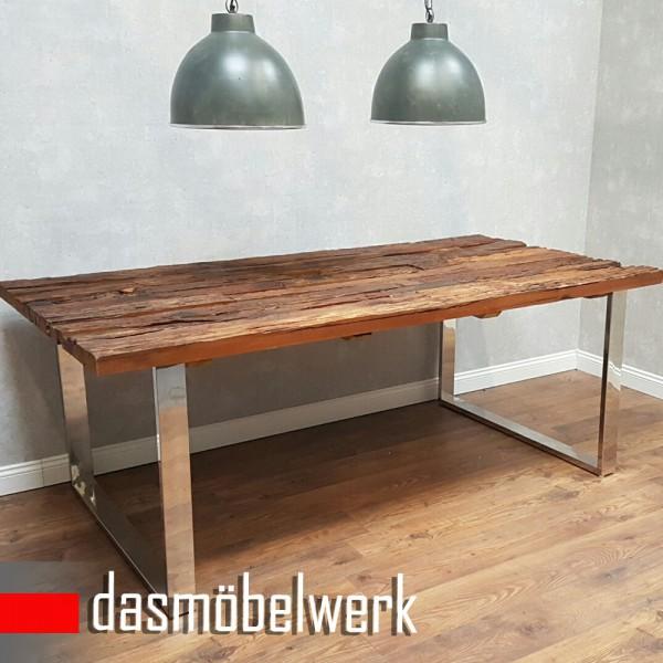 Tisch Massiv Recycling Holz Antik Look Esstisch Esszimmertisch AF2040