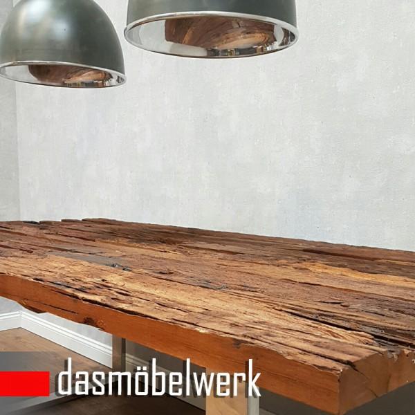 Tisch Massiv Recycling Holz Antik Look Esstisch Esszimmertisch AF2040 – Bild 3
