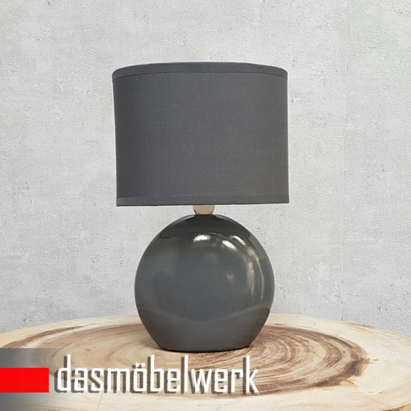 Tischlampe Lampe Grau 34679