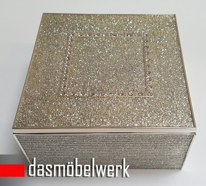 Dose Schmuckdose Universaldose mit Strasssteinen 3304 – Bild 3