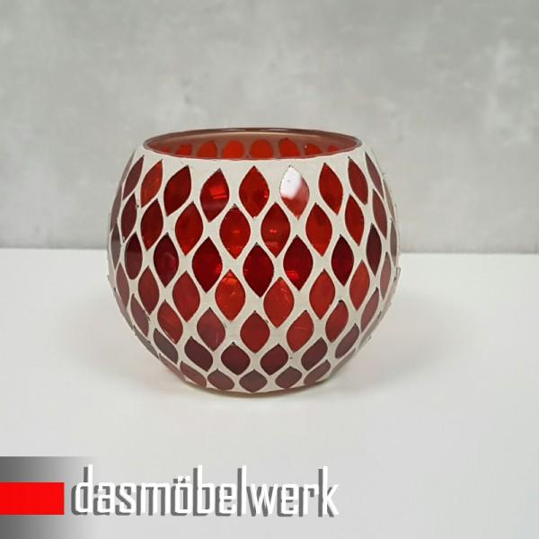Mosaikglas Windlicht Teelichthalter Deko Kugel Accessoires 40 FARBEN und MOTIVE – Bild 3