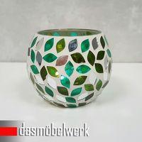 Mosaikglas Windlicht Teelichthalter Deko Kugel Accessoires 40 FARBEN und MOTIVE – Bild 4