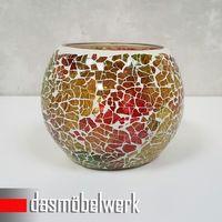Mosaikglas Windlicht Teelichthalter Deko Kugel Accessoires 40 FARBEN und MOTIVE – Bild 8