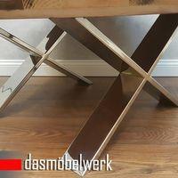 Massivholz Recycling Holz Antik Look Couchtisch Ø 100 cm  – Bild 3