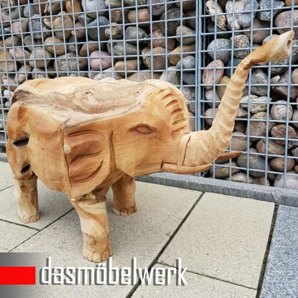 Teakholz Massivholz Elefant Figur  – Bild 3