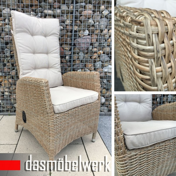 polyrattan gartensessel relaxsessel pisa cappuccino hochlehner sessel. Black Bedroom Furniture Sets. Home Design Ideas