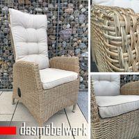 Polyrattan Gartensessel Relaxsessel PISA Cappuccino Hochlehner Sessel  – Bild 1