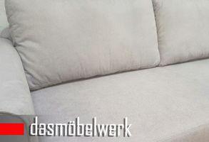 Sessel Sitzmöbel Polstermöbel Retro 3er Sofa Skandinavisch CAMPOS Grau – Bild 3