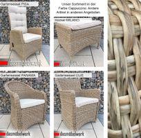 6 Stk Polyrattan Gartensessel Relaxsessel PISA Cappuccino Hochlehner – Bild 7