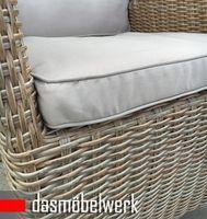 4 Stk Polyrattan Gartensessel Relaxsessel PISA Cappuccino Hochlehner – Bild 6