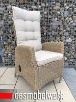8 Stk Polyrattan Gartensessel Relaxsessel PISA Cappuccino Hochlehner – Bild 3