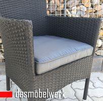Sessel HAWAI aus Polyrattan schwarz stapelbar Gartensessel – Bild 2