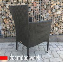 Sessel HAWAI aus Polyrattan schwarz stapelbar Gartensessel – Bild 3
