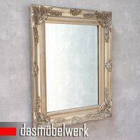 Hängespiegel Wandspiegel silber Landhaus Spiegel Holzrahmen MR003-2S – Bild 2
